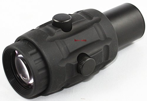 TAC Vector Optics Rifle Scope 4 TAC Vector Optics Rubber Armored 3X Magnifier Holographic Red Dot Sight Scope Flip to Side QD Weaver Mount Color Black