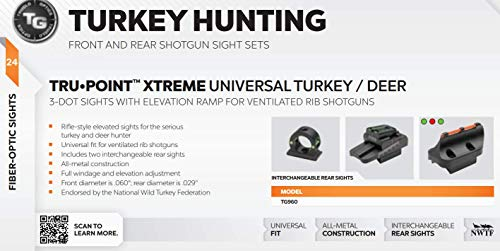 TRUGLO Rifle Scope 6 TRUGLO TruPoint Xtreme Universal Shotgun Sights with Luminescent Alignment Level and Elevation Ramp for Ribbed Shotgun