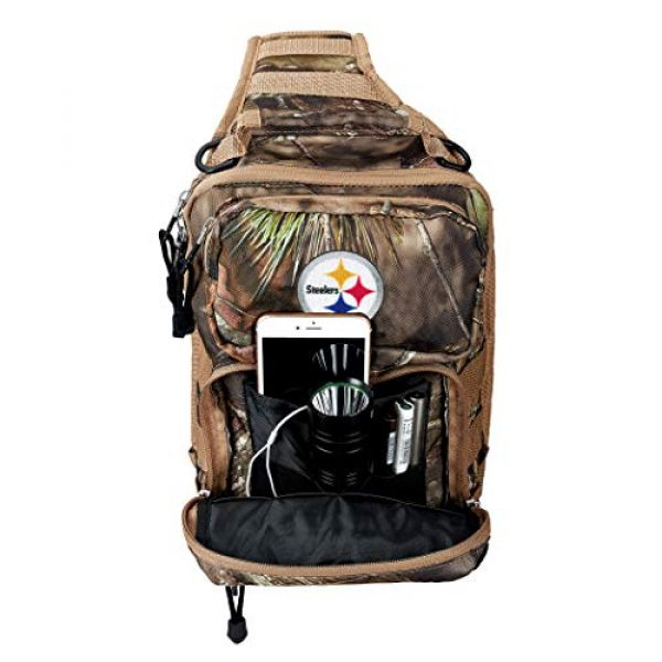 """The Northwest Company Tactical Backpack 3 Officially Licensed NFL Flyover Tactical Slingpack, 12"""", Mossy Oak"""
