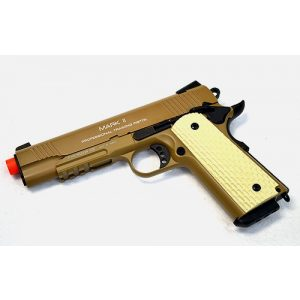 KWA Airsoft Pistol 1 KWA airsoft m1911 ptp mkii gas blow back pistol ns2 desert(Airsoft Gun)