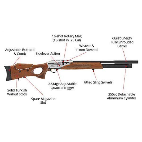 Wearable4U Air Rifle 2 Hatsan Galatian Walnut QE Air Rifle with Included Wearable4U 100x Paper Targets and Lead Pellets Bundle