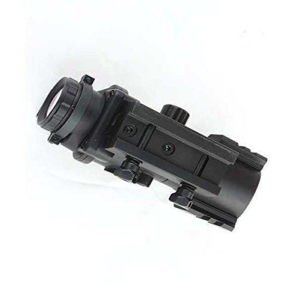 HONESTILL Rifle Scope 4 HONESTILL 4x32 Tactical Rifle Scope Red Dot Sight 20mm Dovetail Reflex Optics Scope with Fiber Optic Sight