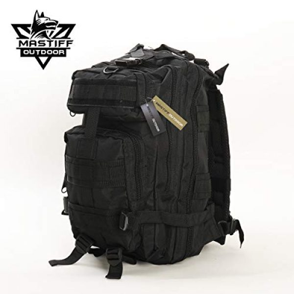 Mastiff Outdoor Tactical Backpack 3 Military Tactical Pack Backpack Army Molle Bug Out Bag Small Rucksack Outdoor Hiking Camping Trekking Hunting
