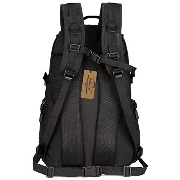 ArcEnCiel Tactical Backpack 2 ArcEnCiel Tactical Backpack Military Army Day Assault Pack Molle Bag with Patch - Rain Cover Included