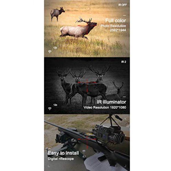 DJym Rifle Scope 3 DJym Infrared Night Vision, Thermal Imaging Night Vision Digital Video Patrol Hunting