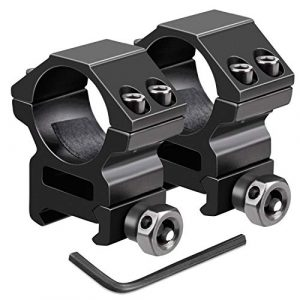 UniqueFire Rifle Scope Ring 1 UniqueFire 1 Pair Scope Mount Dual Rings 25.4mm / 30mm fits 20mm Picatinny Weaver Rail Bracket Mount For Torch Holder Accessories