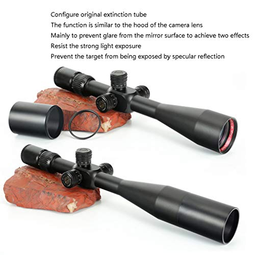WSHA Rifle Scope 5 WSHA 6-24X50 First Focal Plane Rifle Scope - 30mm Hunting Sniper Optical Sight, Precision Shooting, Adjustable Objective