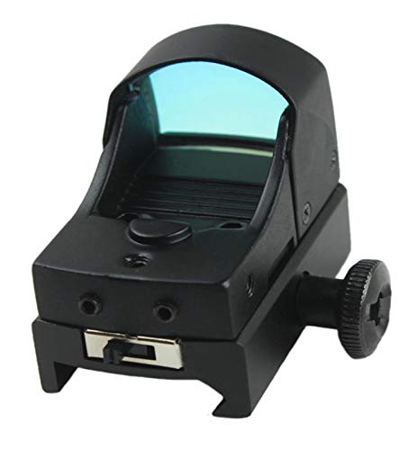 Without Rifle Scope 6 Toy Gun Sight Red dot Sight Magnification Mini Holographic Sight Light Red Green Dot Laser Scope Optics Sight (Color : Black)