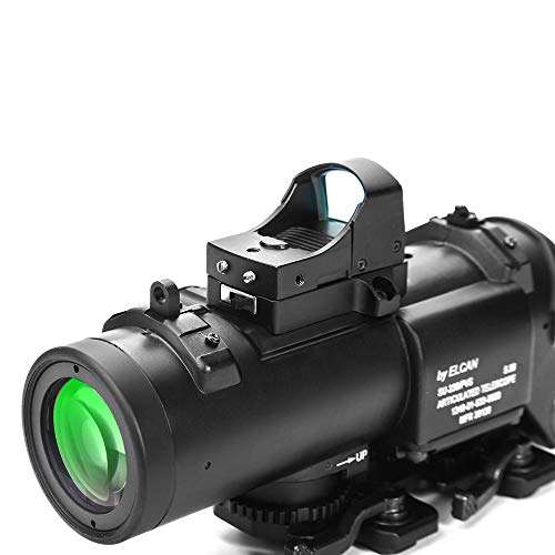 Luger Rifle Scope 6 Luger Tactical 1x-4x Magnification Optic Fixed Dual Purpose Scope Combo with Mini Red Dot Sight Wide Angle for Rifle Hunting Shooting