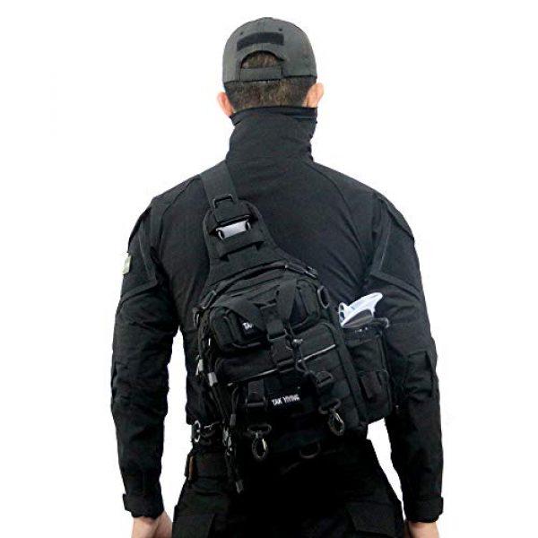 TAK YIYING Tactical Backpack 7 Tactical Sling Backpack Waterproof Shoulder Bag With Waterproof Rainproof Backpack Pack Cover (Black)