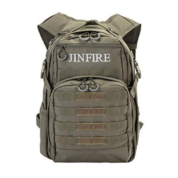 JINFIRE Tactical Backpack 1 JINFIRE Military Tactical Backpack Molle Bag Backpacks Assault Pack Army Rucksacks for Hiking, Camping, Trekking, 24.2L