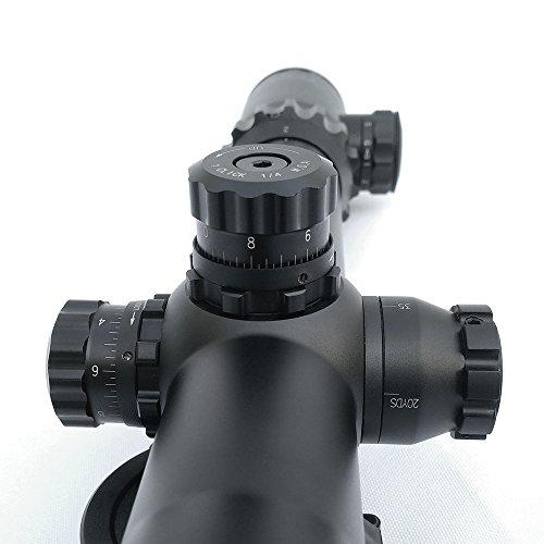 SECOZOOM Rifle Scope 3 SECOZOOM Optics 35mm Diameter 2-24x 50mm Advanced Military FFP Rifle Scope Optics for 50 bmg