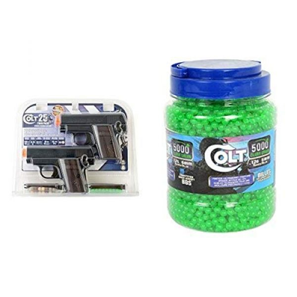 Colt Airsoft Pistol 1 Colt .25 Airsoft Pistol Twin Pack with Colt 5000ct .12g BBs
