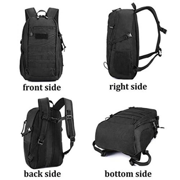 CamGo Tactical Backpack 3 20L Tactical Backpack Small Military Gear Assault Pack MOLLE Hiking Daypack