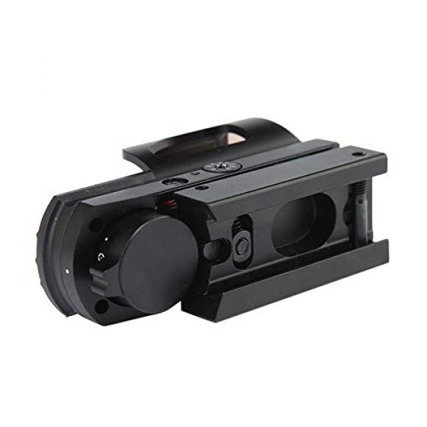DJym Rifle Scope 5 DJym Red Dot Scope Internal Red Green Adjustable HD Non-Magnification Sight 22mm Rail (2 Packs)