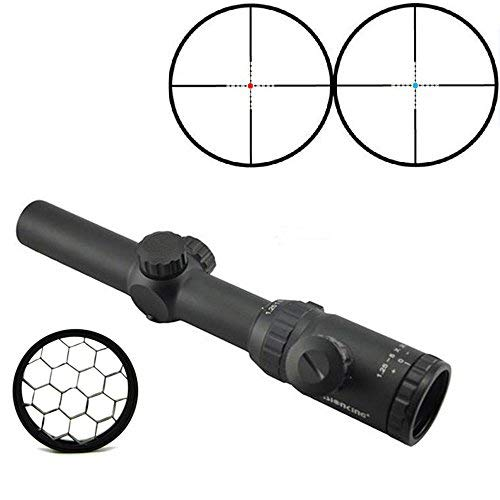 Visionking Rifle Scope 2 Visionking Rifle Scope 1.25-5x26 Riflescope 30 mm Mil dot with a Honeycomb Sunshade