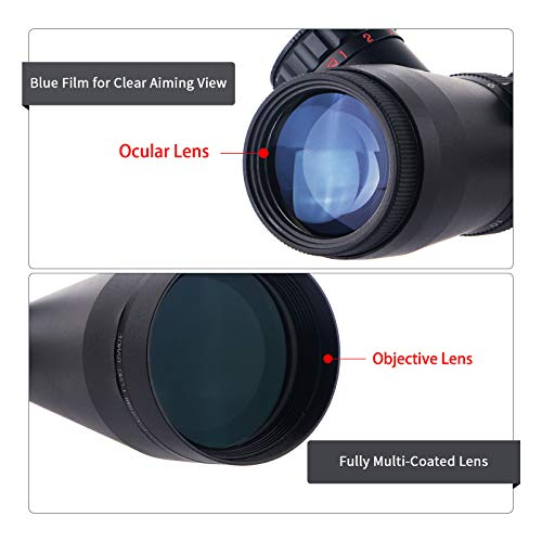ToopMount Rifle Scope 2 ToopMount 3.5-10x50mm Rifle Scope SF M1 Optics Red Illuminated Riflescope Tactical Scope for 11 level Controls with 11, 20mm Rings