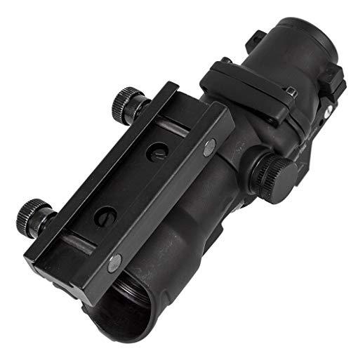 AJDGL Rifle Scope 5 AJDGL Optic Scope 4x32 Scope True Fiber Red Illuminated Crosshair Reticle Scopes with 20mm Rail Mount Holographic Sight