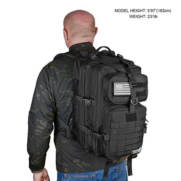 LeisonTac Tactical Backpack 6 LeisonTac 42L Tactical Backpack Military ISO Standard with Hydration Bladder Compartment