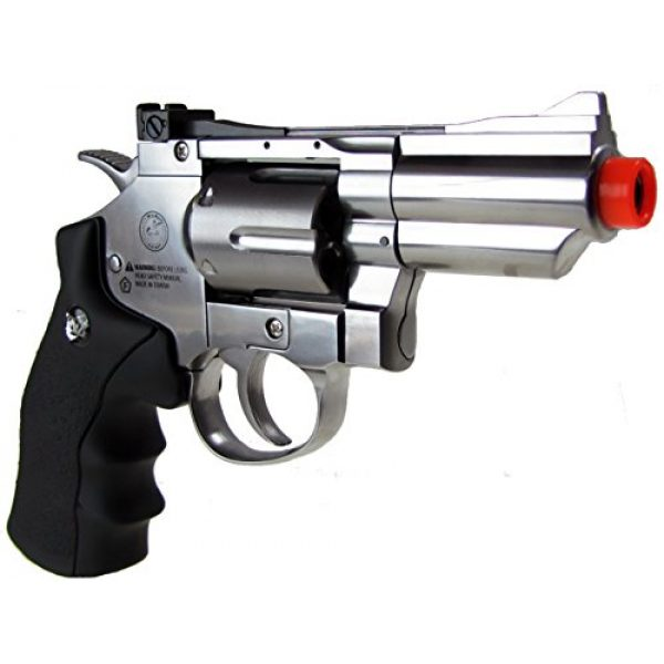 WG Airsoft Pistol 3 WG model-708s 2 revolver full metal co2 non-blowback/silver included 4 revolver holster-nylon(Airsoft Gun)