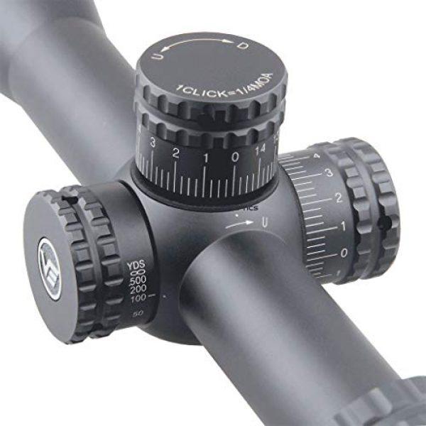 Vector Optics Rifle Scope 3 Vector Optics Hugo 6-24x50 Second Focal Plane (SFP) Riflescope, 25.4mm Tube, 1/4 MOA Per Click Adjustment, Turret Lock System, Free Mount Rings, Lens Caps, 3 Inches Sunshade