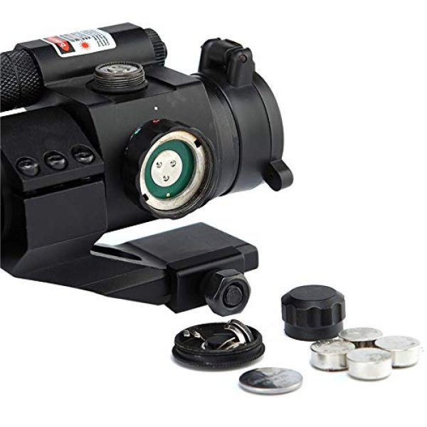 DJym Rifle Scope 4 DJym HD Blue Film Without Magnification, Inner Red Dot Sight with Red Professional Shockproof Waterproof Anti-Fog Sight