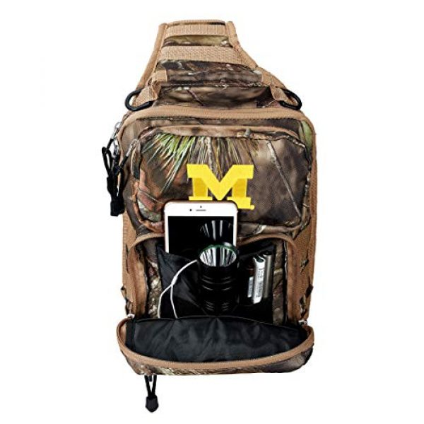 """The Northwest Company Tactical Backpack 3 Officially Licensed NCAA """"Flyover"""" Tactical Slingpack, 12"""", Mossy Oak"""