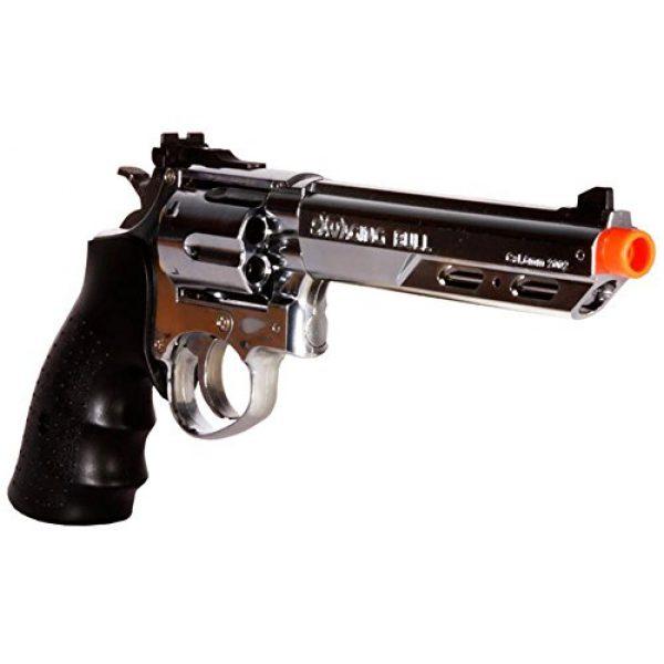 HFC Airsoft Pistol 5 HFC hg-133 6 barrel gas revolver, silver airsoft gun(Airsoft Gun)