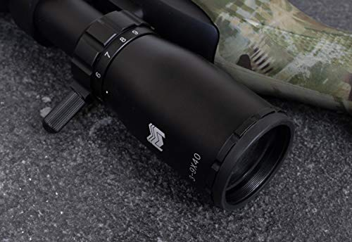 Monstrum Rifle Scope 3 Monstrum 3-9x40 Rifle Scope with AO Adjustable Objective | with Ruger 10/22 Dual Ring Scope Mount