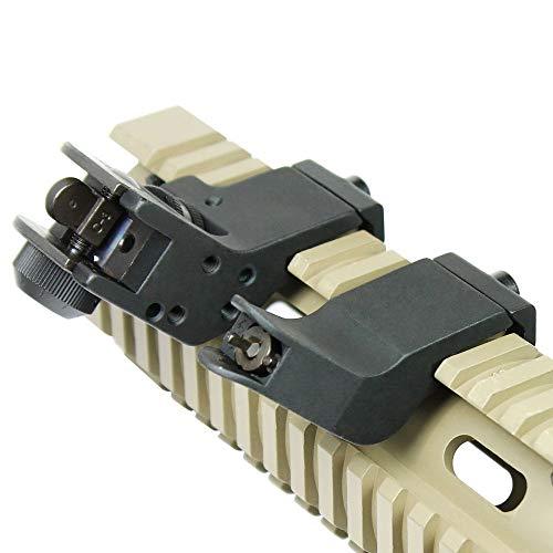 KTAIS Rifle Sight 5 KTAIS US 45 Degree Offset Front&Rear Rapid Transition BUIS Adjustable Iron Sight Set (Color : Black)
