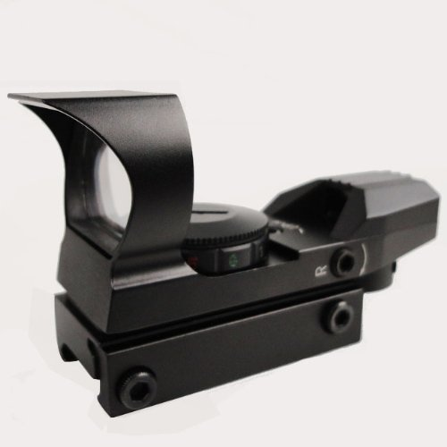 DYZ Rifle Scope 3 Tactical 4 Reticle R&G Illuminated Red Dot Sight with Weaver/Picatinny Rail Mount w/Sunshade