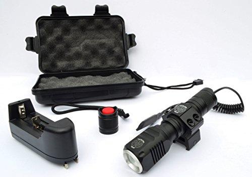 Acid Tactical Flashlight 4 Acid Tactical Compact LED Rifle Shotgun Flashlight 800 Lumens with Picatinny Mount, Battery, Pressure Switch kit