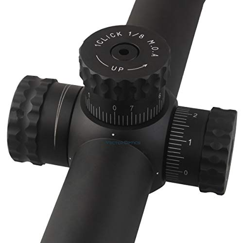 Vector Optics  5 TAC Vector Optics Sentinel 10-40x50 Riflescope for Shooting Hunting with Illuminated Glass MP Reticle Side Focus Long Eye Relief Color Black (10-40x 50mm)