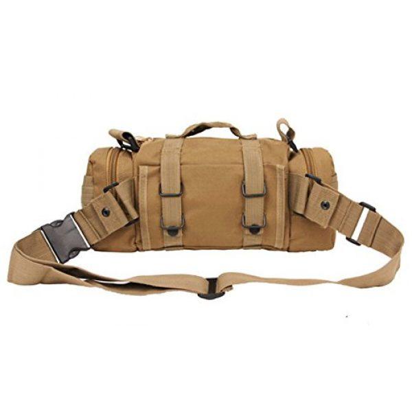 "FIRECLUB Tactical Backpack 2 FIRECLUB TAN Deployment Waist Chest Pack Outdoor Military Duffle Tactical Assault Combined Backpack Rucksack Sport Molle Camping Trekking Messenger Crossbody single Shoulder Bag +6 Key Buckle """