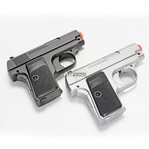 BBTac Airsoft Pistol 2 bbtac 618 110 fps spring concealable airsoft gun with storage case, black/silver(Airsoft Gun)