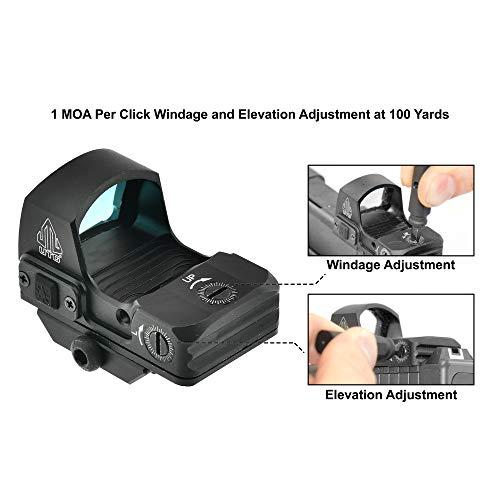 UTG Rifle Scope 6 UTG Reflex Micro Dot, Red 4 MOA Single Dot, Adaptive Base, Black