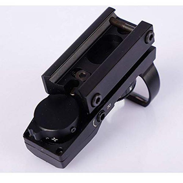 DONGYUCHUN Rifle Scope 7 DONGYUCHUN No Magnification Fast Sight 4 Point Silver Film Holographic Mirror Adjustable Light red dot Sight