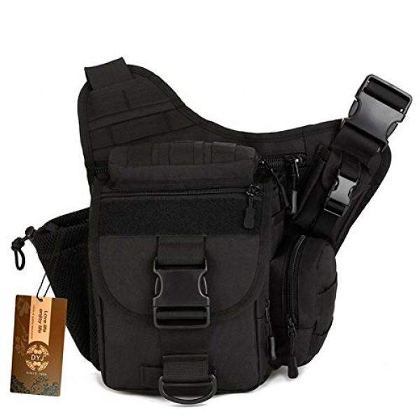 DYJ Tactical Backpack 1 DYJ Multi-Functional Tactical Camera Messenger Bag Fishing Tackle Bag Military Shoulder Bag Backpack EDC Sling Pack for Hiking Camping Trekking Cycling