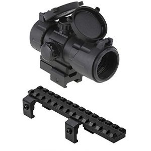 M1Surplus Rifle Scope 1 Compact Red Green Dot Co-Witness Scope Aiming Sight with Integral Quick Mounting Deck + Low Profile Picatinny Scope Mount for Hk SP5