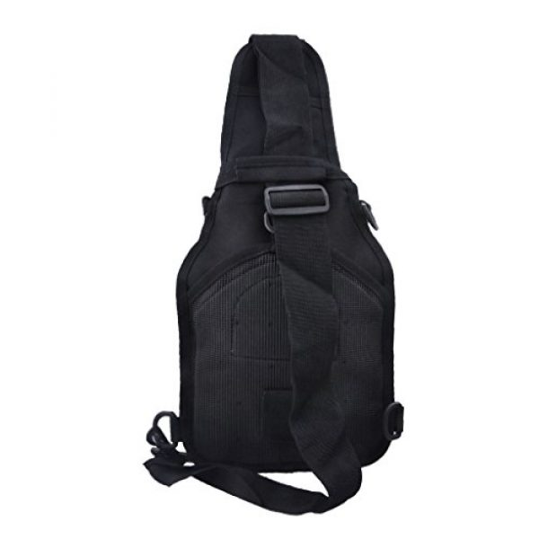 Qcute Tactical Backpack 2 Qcute Tactical Bag, Single Shoulder Messenger Bag, Chest Bag, Casual Office Tactical Satchel, Small Tool Backpak, Bag Which is Suitable for Carrying ipad, Smart Phone, Wallet and Daily Necessities