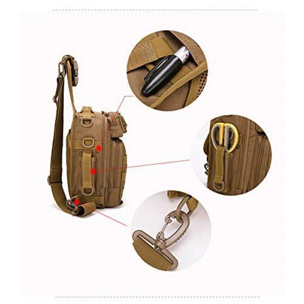 Ornate Tactical Backpack 7 Ornate Tactical Sling Bag, 600D Bug Out Molle Backpack