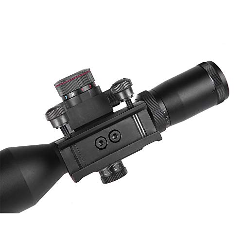 Sniper Rifle Scope 6 Sniper ST2.5-10x40 Rifle Scope Combo with Green Laser R/G Illuminated Reticle Red Dot Sight