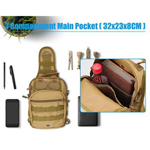 Gisdanchz Tactical Backpack 3 Gisdanchz Outdoor Tactical Molle Bag Military Backpack Sling Crossbody Shoulder Bags for Men Women