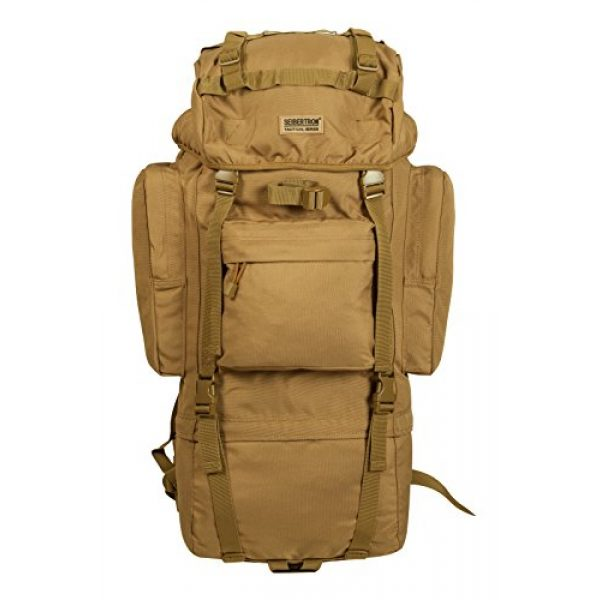 Seibertron Tactical Backpack 1 Seibertron 65L Internal-frame Waterproof Backpack Rain Cover Included