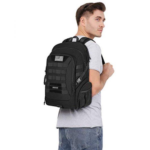 MOSISO Tactical Backpack 6 MOSISO Tactical Backpack, 2-Layer Multifuntional Large Molle Rucksack Daypack Adjustable Shoulder Back Pack Bag with Side Bottle Holder/USA Flag for Sport Outdoor Hiking Camping Training, Black