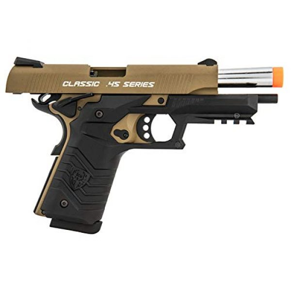 HFC Airsoft Pistol 3 HFC Honor Fantastic 1911 Gas Blowback Airsoft Pistol TAN Black
