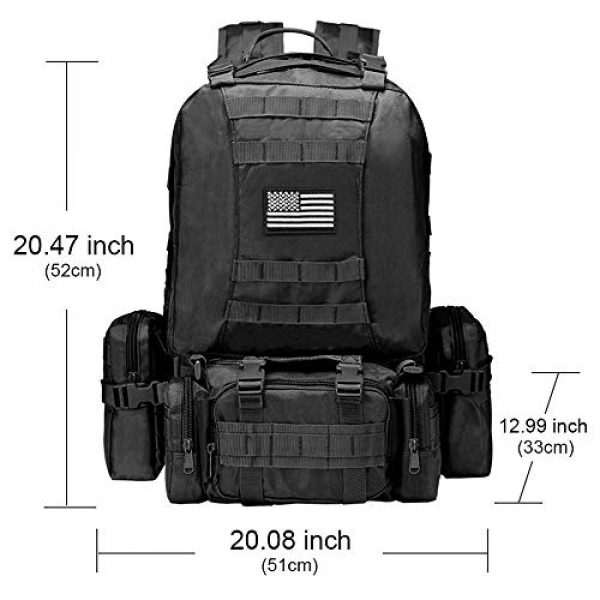 NOOLA Tactical Backpack 2 NOOLA Tactical Military Backpack Army Assault Pack Molle Bag Built-up Rucksack