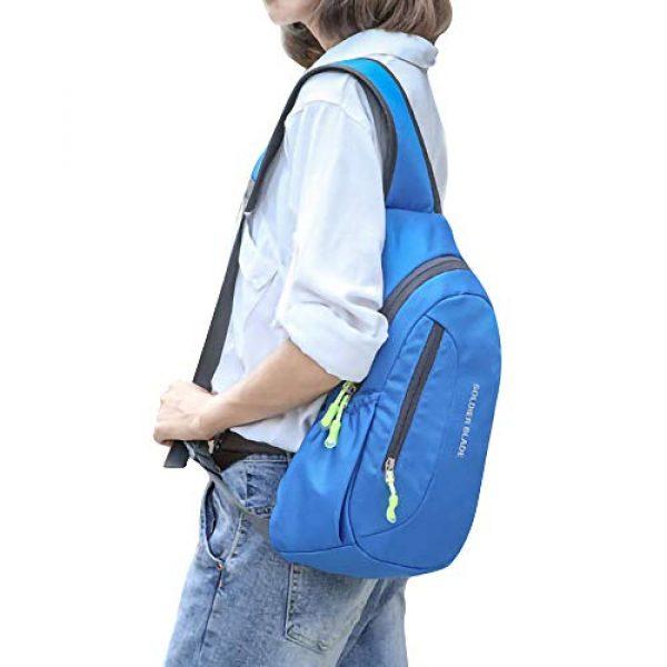 Peicees Tactical Backpack 7 Peicees Sling Backpack Shoulder Chest Crossbody Bag Purse Lightweight Waterproof Daypack for Men Women