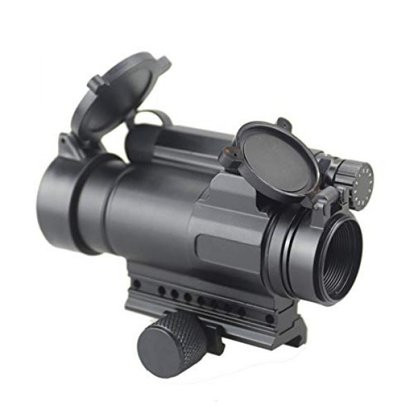 DJym Rifle Scope 6 DJym M4 Non-Magnification Red Film, Red Dot Sight, High Shockproof Waterproof Rifle Scope