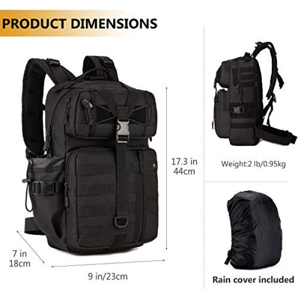 Protector Plus Tactical Backpack 5 Protector Plus Tactical Motorcycle Backpack Small Military MOLLE Cycling Hydration Daypack (Rain Cover & Patch Included)